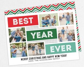 24 HOUR TURNAROUND, Best Year Ever Christmas Cards, Best Year Ever Holiday Cards, Family Christmas Cards, Photo Christmas Cards, DIY