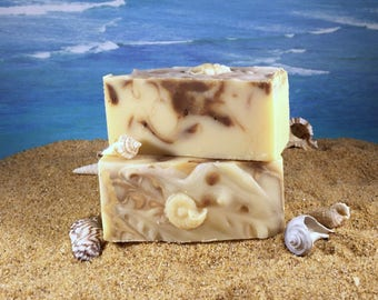 Butter Me Up Soap / Homemade Natural Cocoa Butter Soap made with Essential Oil, Handmade Shea Mango Aloe Vera Soap