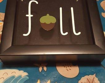 Acorn fall shadow box
