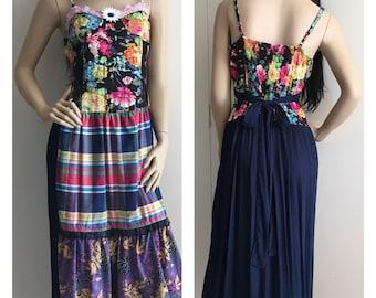 SALE 10% OFF Medium / Large, Artsy Romantic Country Vintage Style Frida Inspired, Upcycled Dress
