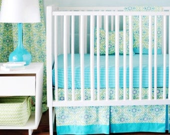 Monterey Yellow and Green Baby Bedding Set