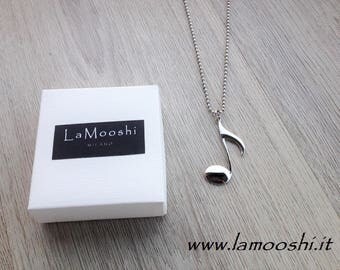MUSICAL NOTE charm necklace in gift box
