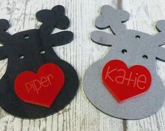 Christmas Reindeer Bauble Ornament Personalised by Duck Duck Goose
