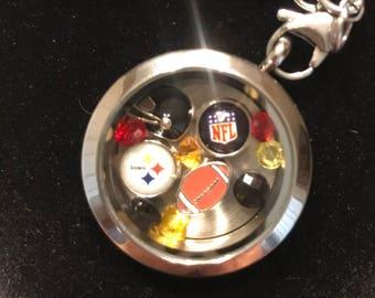 Pittsburg Steelers Floating Charm keychain