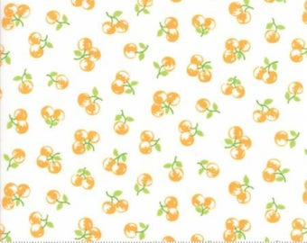 The Good Life by Bonnie & Camille  (55158-19) Quilting Fabric by the 1/2 Yard Increments (Cream w/Orange Berries)