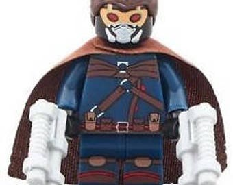 STARLORD Peter Quill Animated version Custom Minifigure 100% Lego Compatible! Marvel Comics Guardians of the Galaxy Character