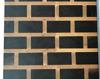 End Grain Cutting Board / Serving Board (Brick Pattern)