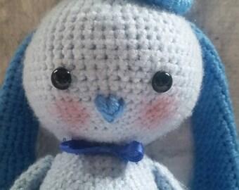 Crochet Amigurumi Stuffed Bunny - Ernie