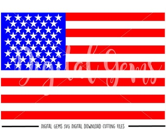 American Flag svg / dxf / eps / png files. Digital download. Compatible with Cricut and Silhouette machines. Small commercial use ok.