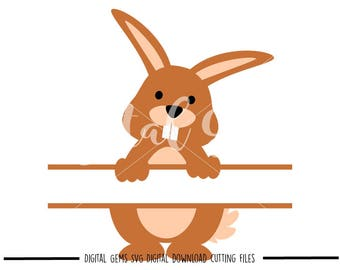 Rabbit svg / dxf / eps / png files. Digital download. Compatible with Cricut and Silhouette machines. Small commercial use ok