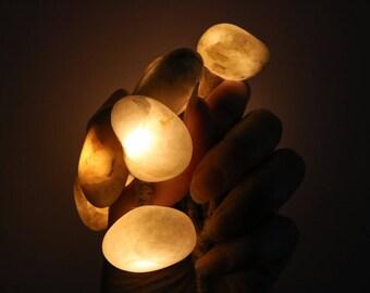 Quartz Pebble Battery Operated Fairy Lights - Christmas String Lights - Art Light Rope Garland - Coastal  Baltic Sea Home Decor
