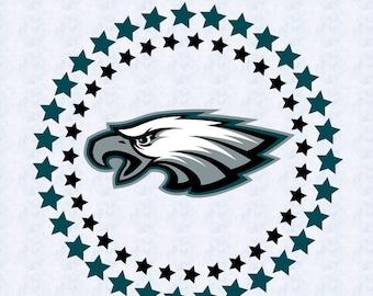 Philadelphia Eagles SVG,DXF,studio file, clipart, football svg, sport, cut file, eagles vinyl cut, cricut, silhouette cameo, circle design