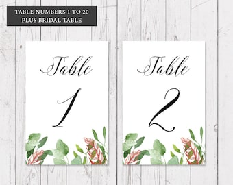 ON SALE, Gold Floral Native Wedding Table Numbers, Professionally Printed 6x4inch, Bohemian Luxe, Peach Perfect Australia