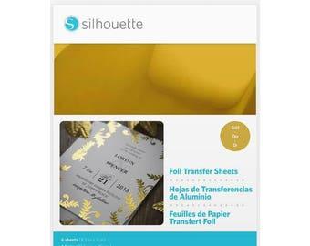 Silhouette Foil Transfer Sheets - Gold