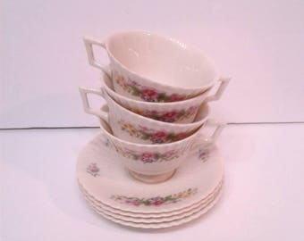 Free Shipping Lennox China Sonnet Cups and Saucers Set of 4
