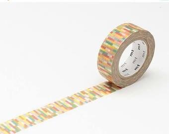 ON SALE MT Washi tape Block Pink, Mt Tape, Japanese Washi Tape, Mt Washi Tape, Decorative Tape, mt Masking Tape, Washi Tape 15mm, Pink  Wash
