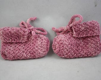 baby booties, booties, hand knit booties, knit booties, washable wool booties, wool booties, hand knits, pink booties
