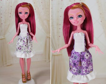 4 COLORS! Clothes/Outfit/Dress for Monster High dolls