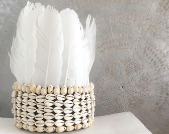 Shells & feathers crown