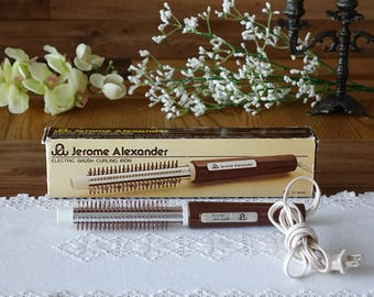 Vintage electric brush and curling iron - by Jerome Alexander