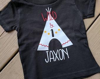 Teepee birthday shirt, custom toddler teepee birthday shirt, teepee first birthday, hipster birthday shirt, tribal birthday shirt,