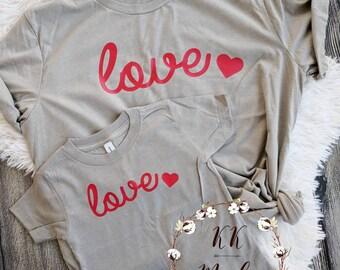 Valentine's shirt, Valentine's day shirt, Valentine's day, mommy and me Valentine's day shirt, matching Valentine's shirts, love shirts