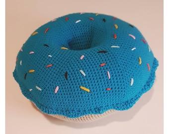 Large Crochet Donut cushion