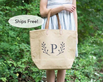 Personalized Tote Bag | Teachers Gifts | Birthday Day Gift for Her | Personalized Christmas Gift 2017 Gift for Wife Monogrammed Gift