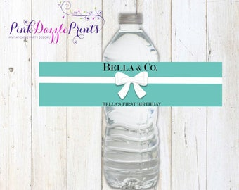 Printable Name & Co. Water Bottle Labels- Digital File- Customizable