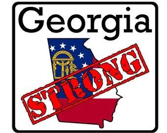 Georgia State (K11) Strong Vinyl Decal Sticker Car/Truck Laptop/Netbook Window