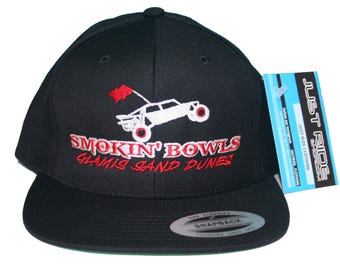 Glamis Sand Dunes Smokin Bowls Hat Just Ride Flat Bill Snapback Cap Sand Car