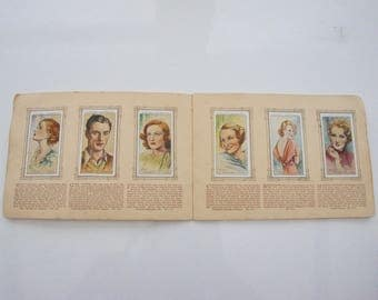 Vintage, 1934-1938, Player's, 48 Of 50, Portraits Of Famous Stars, Film Stars, Screen, Cigarette Cards, Collectible, Mother, Dad, Wife, Nan