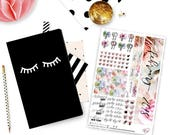 February 2018 Foiled Monthly Planner Sticker Kit - Fits B6 Monthly by Annie Plans Printables and Jesenia's Printables