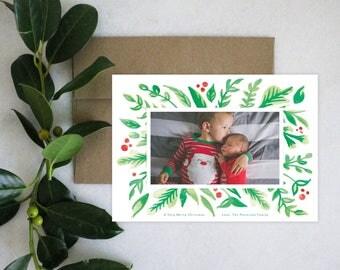 PRINTABLE Holiday Cards | Christmas Greens