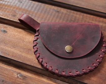 Leather coin purse ~ Purse leather pouch ~ Bordo coin purse ~ Small leather pouch ~ READY TO SHIP ~