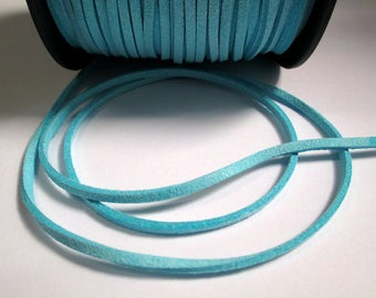 5 m cord Suede Blue 3 mm