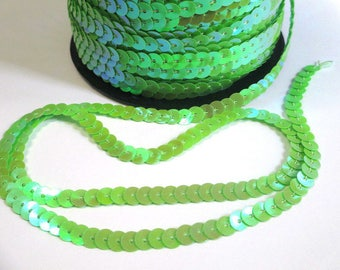 5 m Ribbon lace sequin green 6mm