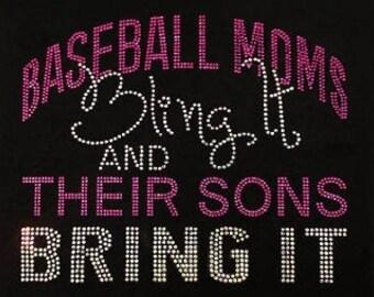 Baseball moms bling it