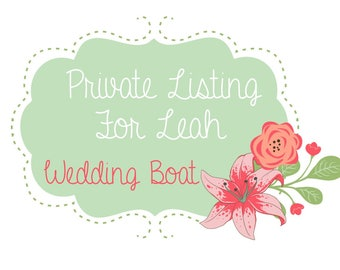 Listing for LEAH - Wedding-Boat