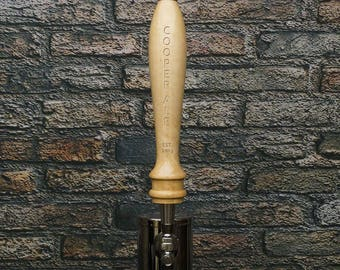 Personalized Brewster Natural Wood Tap Handle Great Gift for Home Beer Brewers Bar Owners Craft Beer Lovers Home Bars and Kegerators