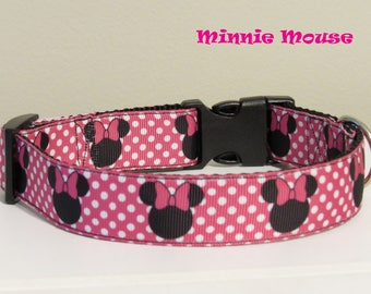 Minnie Mouse Dog Collar