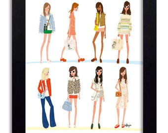 COACH- Fashion Illustration Print Fashion Print Fashion Art Fashion Wall Art Fashion Poster Fashion Sketch Illustration Art Print