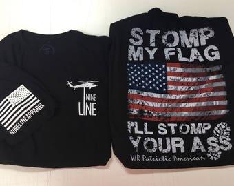 Nine Line Stop my flag tee shirt