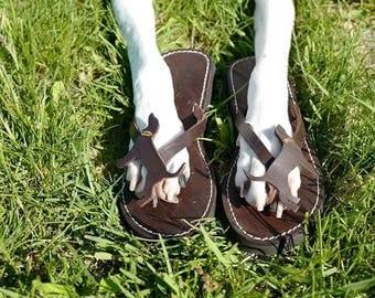Coonhound hound Lover Gift Handmade Sandals Flip Flops Shoes