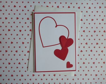 Valentines Card Hearts FREE SHIPPING