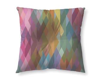Rainbow prism geometric - floor pillow