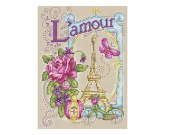 L' Amour - Durene J Cross Stitch Pattern - DJXS2262