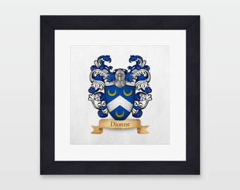 Framed Family Crest Etsy