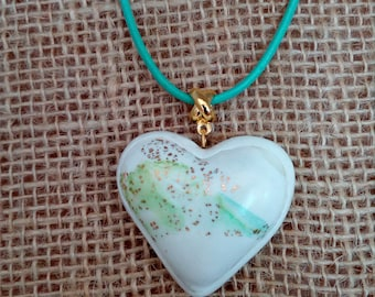 Polymer clay jewelry,Polymer clay necklace,Heart  pendant,Wearable Art jewelry,Gift for her,Polymer clay pendant,Heart,Anniversary gift