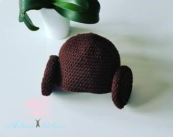 Crochet Princess Leia hat - Princess Leia hat - Crochet Hat - Star Wars Hat - Crochet Star Wars